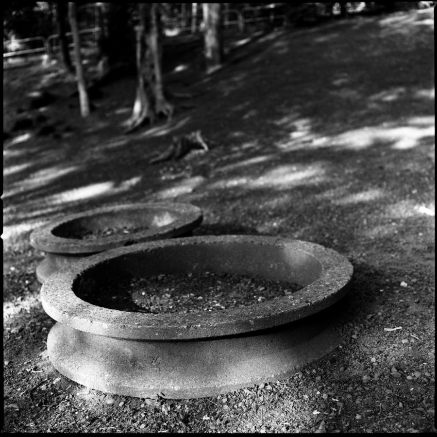 公園の遊具 コンクリートのリング