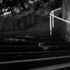 住宅街【バス停のイス、長い階段、スクーター】with Planar C80mm F2.8 T*