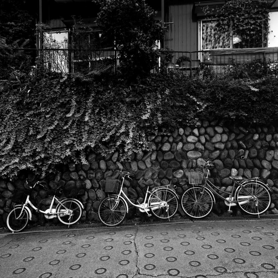 坂道の駐輪
