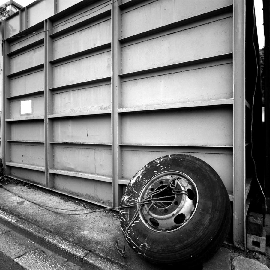 古タイヤの重り