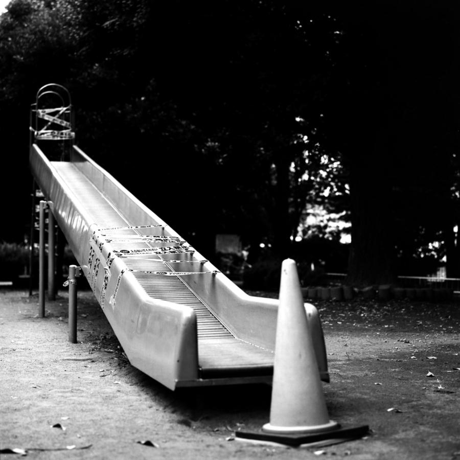立入禁止の滑り台