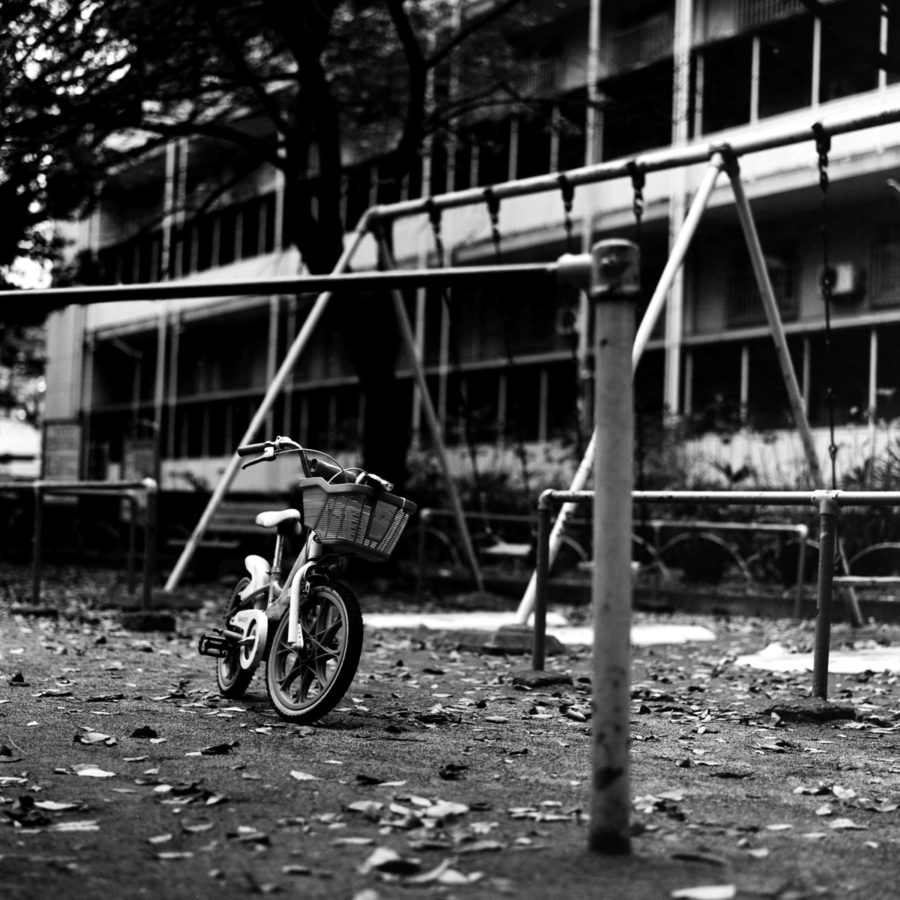 鉄棒とブランコと自転車