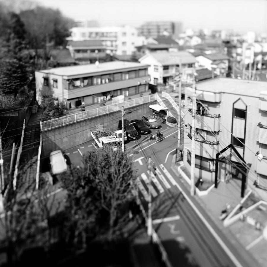 マンションの上から見える景色