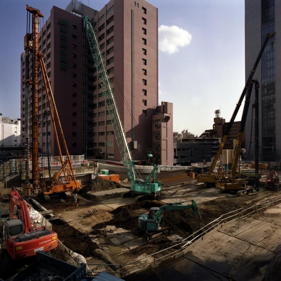 ビル建築の現場