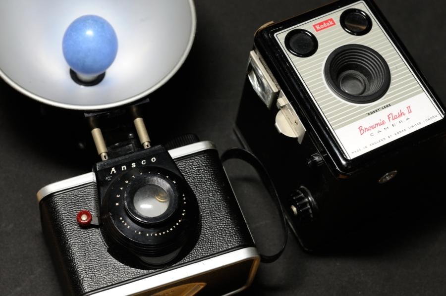 Ansco READY FLASH Kodak Brownie Flash Ⅱ