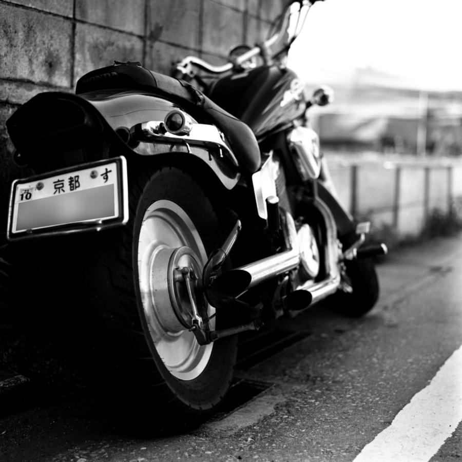 カスタムされたバイク