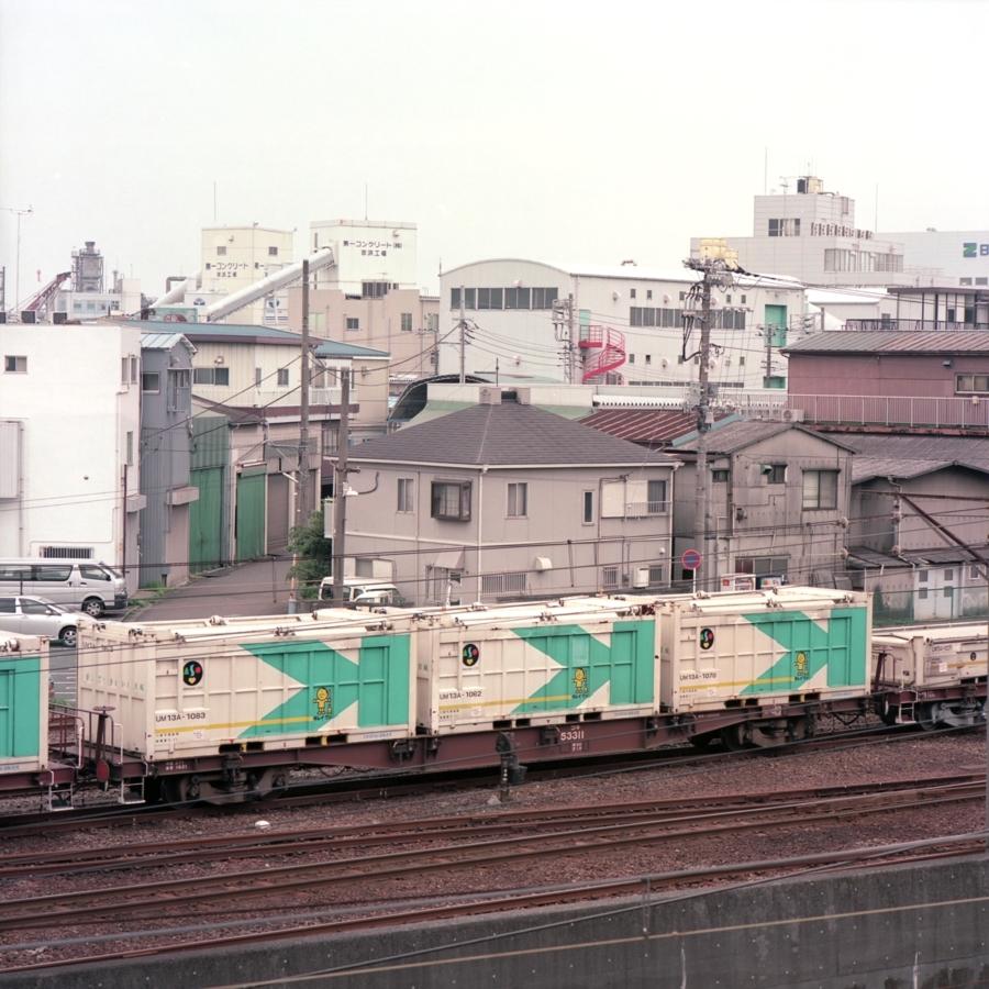 小島新田駅の近く 貨物専用の駅 ゴミを輸送する列車
