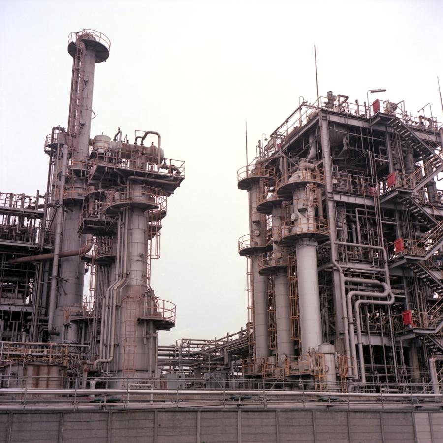 工場のタワー