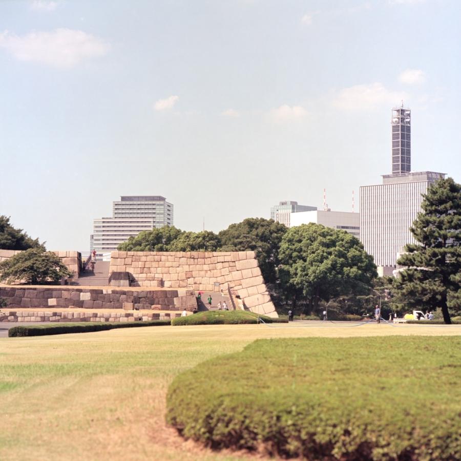 皇居 本丸跡 石垣