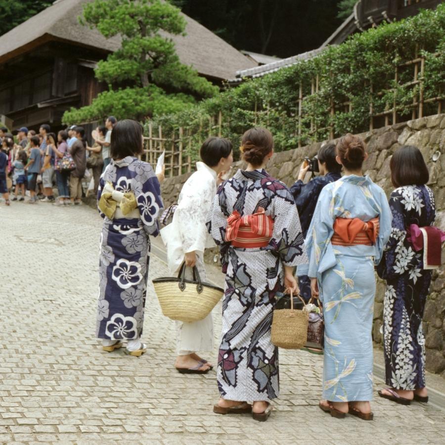 日本民家園に到着