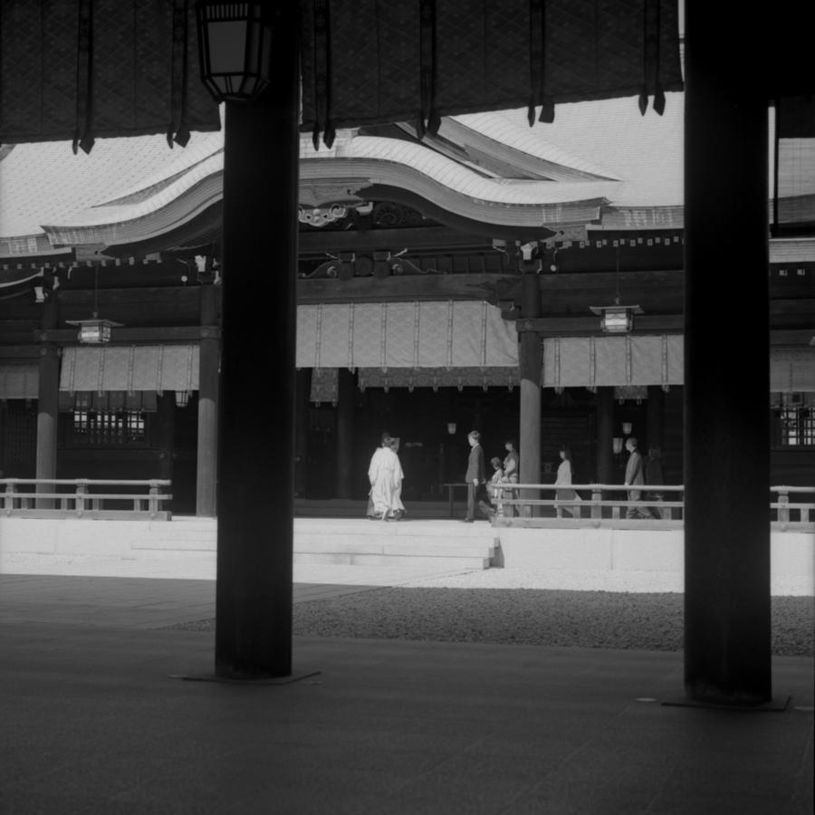明治神宮 本殿 七五三の儀式