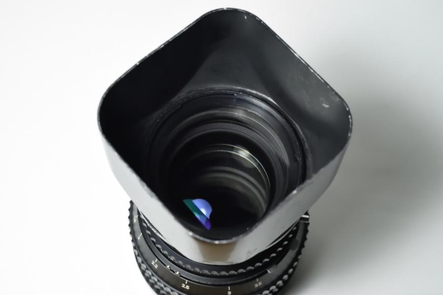 HASSELBLAD メタルレンズシェードC150 塗装済み レンズ装着時