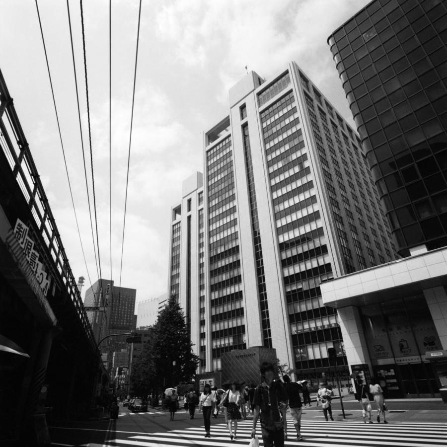 JR有楽町駅前の交差点